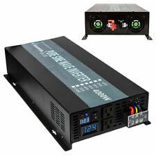 Pure Sine Wave Power Inverter 4000W 24V DC to 120V AC RV/Truck/ Car/Home Solar