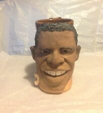 OBAMA FACE MUG in Handcrafted Stoneware Pottery