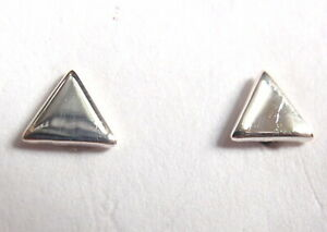 Tiny Triangle Stud Earrings 925 Sterling Silver