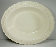 Wedgwood Cream Color on Cream Color Shell Edge Oval Vegetable Bowl 9 5/8""
