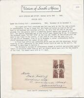 South Africa Postal Cover WW2 Zoo Lake Johannesburg 1944 Victory Fair Cancel