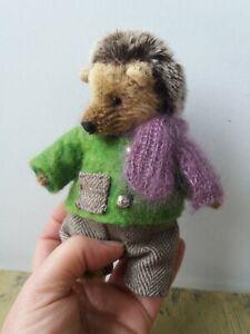 Handmade Teddy Hedgehog Toy.Artist Teddy Bear 6in