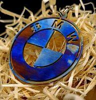BMW keychain - Brass | Titanium | Steel | Blued (handmade, birthday gift)