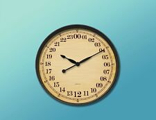"""24 Hours Wall Clock """"Sepia Clasic"""" 12""""(30.4cm) Round Brown-Military Time-"""