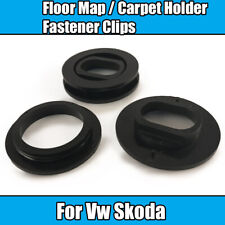 4x (4x4) Clips For Vw Skoda Floor Mat Carpet Fastener Clip Locks Black Plastic