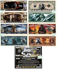 Star Wars Set of 5 Million Dollar Bill Funny Money Novelty Notes + FREE SLEEVES
