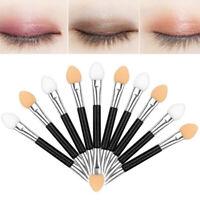 10Pcs Double Ended Disposable Eye Shadow Sponge Wand Applicators Makeup Brush