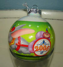 2005 Disney Store Cheshire Cat Dumbo Dopey Band Glass Ball Ornament Christmas