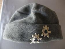 Mütze Kappe Hut, Grau mit Edelweiss, Fleece, warm, für Kinder, sehr schön