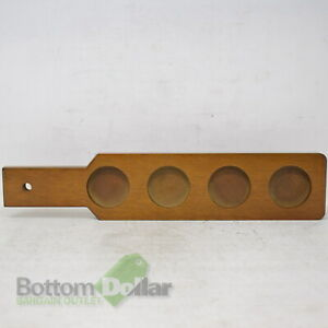 """Arcoroc FG688 3-1/4"""" 4-Hole Wooden Beer Paddle"""