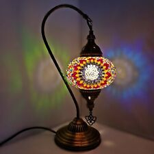 Marocain Turkish Coloré Lampe Lumière Style Tiffany Verre Bureau Table Ce Testé