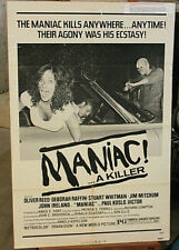 ORIGINAL MOVIE  POSTER MANIAC also under the title ASSAULT ON PARADISE in 1977.