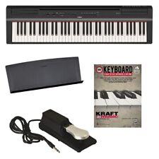 Yamaha P-121 Digital Piano - Black BONUS PAK