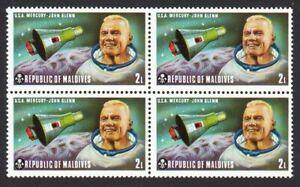 SPACE = JOHN GLENN = USA MERCURY = Block of 4 MNH