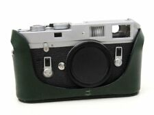 Leather Half Case for Leica M6 M7 MP M2 M3 (with or w/o selftimer) - Royal Grn