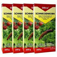 Schneckenkorn 4 x 300 g DELU - Nacktschnecken Bekämpfung Schnecken Schneckengift