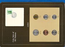 Coin Sets of All Nations Japan card UNC 1980-1983 1,10,500 Yen 1983 100 Yen 1981
