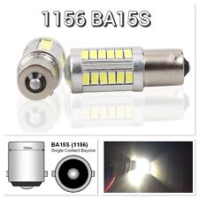Brake Light 1156 BA15S 33SMD 180° LED Projector Lens White Bulb K1 For Acura HAK