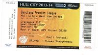 Ticket - Hull City v West Ham United 28.09.13