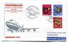 FFC 1971 Swissair First Flight Boeing 747 Zurich New York Erstflug Flughafen