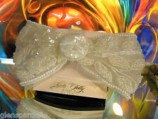 Bridal Communion Bow Rb4 usa made Kirks Folly Barrette Large ivory Pearl Lace