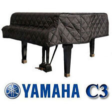 "Yamaha Grand Piano Cover C3 Black Quilted Cover 6'1"" C3F, G3, G3F SIDE SLITS"