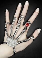 NEW Dawn Living Dead Skull Skeleton Bone Hand Halloween Costume Bracelet Ring