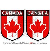 """CANADA Canadian Commonwealth Shield 3""""(75mm) Vinyl Bumper Stickers-Decals x2"""
