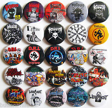 WEHRMACHT VOIVOD CRYPTIC SLAUGHTER Button Badges Pins Crossover Thrash Metal 25