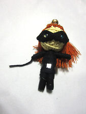 Cat woman Anne Hathaway 2012 Voodoo String Doll Keychain Ornament Accessory
