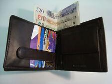 Billetera Hombre Cuero Suave Tamaño Grande Marrón Oscuro 15 ranura para tarjetas de crédito proteger RFID