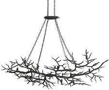 CURREY & CO COMPANY 9007 14 Light Rainforest Chandelier, FORGED IRON, Organic