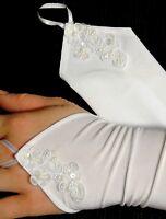 Handschuhe zum Kommunionkleid Kleid Blumenmädchen Taufkleid Hochzeit neu LUX