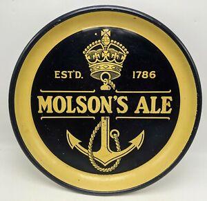 "Vintage MOLSON'S ALE Crown Anchor METAL Beer SIGN TRAY 13"" General Steel Wares"