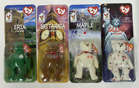 1999 TY Beanie Babies Britannia Glory Erin Maple The Bear McDonalds Set of 4. B1