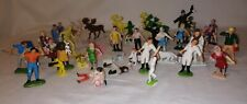 Vintage Toy Farm Figures & animals some stamped Britains/Hong Kong or no mark