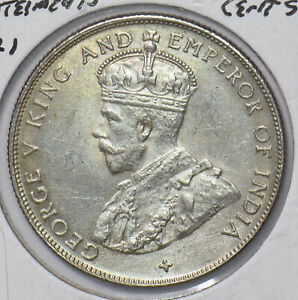 Straits Settlements 1921 50 Cents  291025 combine shipping