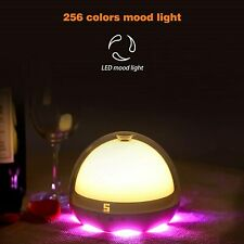 Table Lamp Touch Sensor Bedside Lamp Dimmable Warm White Night Light RGB  2 USBs