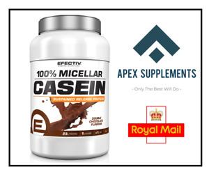 Efectiv Sports 100% Micellar Casein Protein Shake 908g + Free T-Shirt + Gym Bag