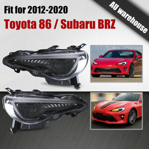 Projector Headlights LED Sequential Indicators for 12-20 Toyota 86 / Subaru BRZ