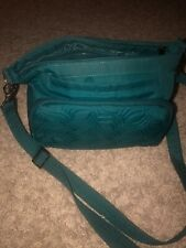 Lug Brushed Teal RFID Convertible Shoulder Bag - Samba