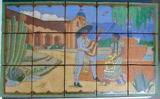 Contemporary Scenic Tile Panel Santa Barbara Mission California