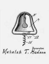 1915 Hudson US Patent Poison Indicator Bell Corkscrew Bottle