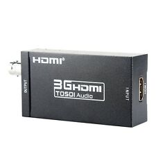 Great Portable Mini HDMI to 3G SDI Box Signal Converter with EU Plug Adapter Hot