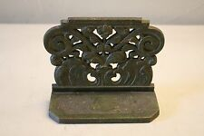 Vintage Green Cast Iron Metal Heavy Book End Door Stopper