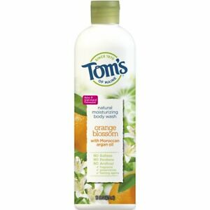 TOM'S OF MAINE Natural Moisturizing Body Wash ORANGE BLOSSOM w/ Argan Oil 16 oz