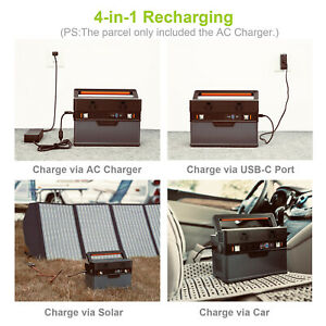 288Wh Solar Generator Portable Power Station With DC/AC Inverter for Emergency