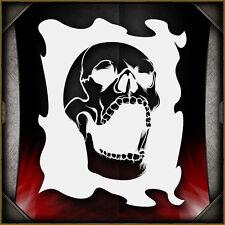 """Skull 21"" Airbrush Stencil Template Airsick"