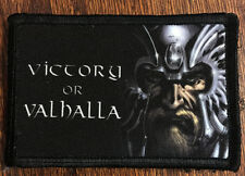 VIKING Victory or Valhalla Morale Patch Tactical Military Army Hook Flag Badge