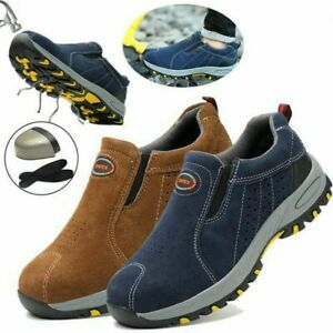 UK Men's Safety Shoes Steel Toe Cap Work Boots Slip On Shoes Protect Trainers K1